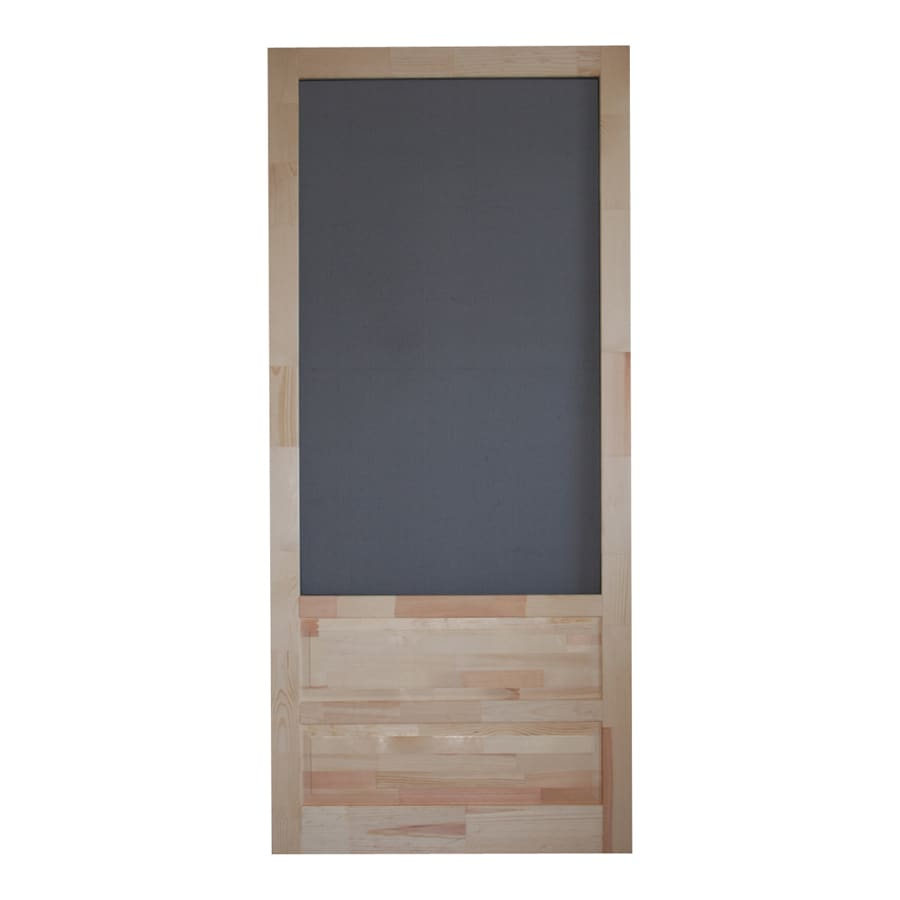 Screen Tight Hampton Natural Wood Hinged Decorative Screen Door (Common: 36-in x 80-in; Actual: 36-in x 80-in)