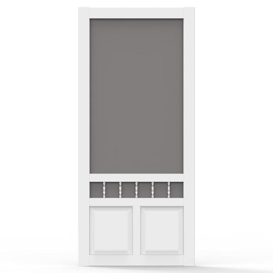 Screen Tight Heritage White Vinyl Hinged Screen Door (Common: 36-in x 80-in; Actual: 36-in x 80-in)