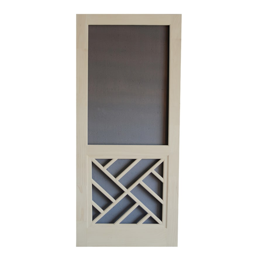 Screen Tight Chippendale Lyndhurst Timber Wood Screen Door (Common: 36-in x 80-in; Actual: 36-in x 80-in)