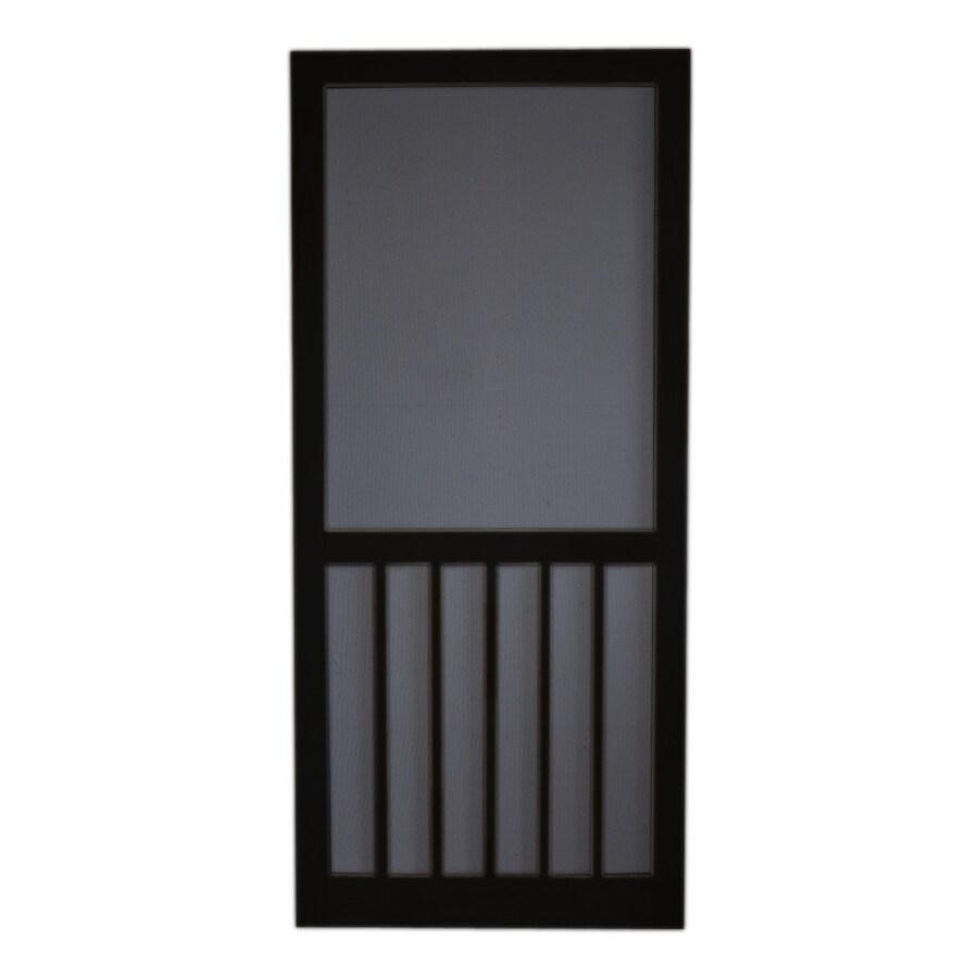 Screen Tight Black Wood Screen Door (Common: 30-in x 80-in; Actual: 30-in x 80-in)