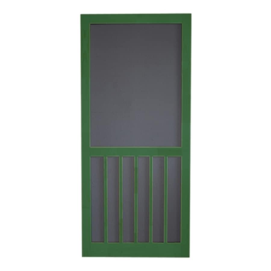 Screen Tight Favorite Green Wood 5-Bar Screen Door (Common: 30-in x 80-in; Actual: 30-in x 80-in)