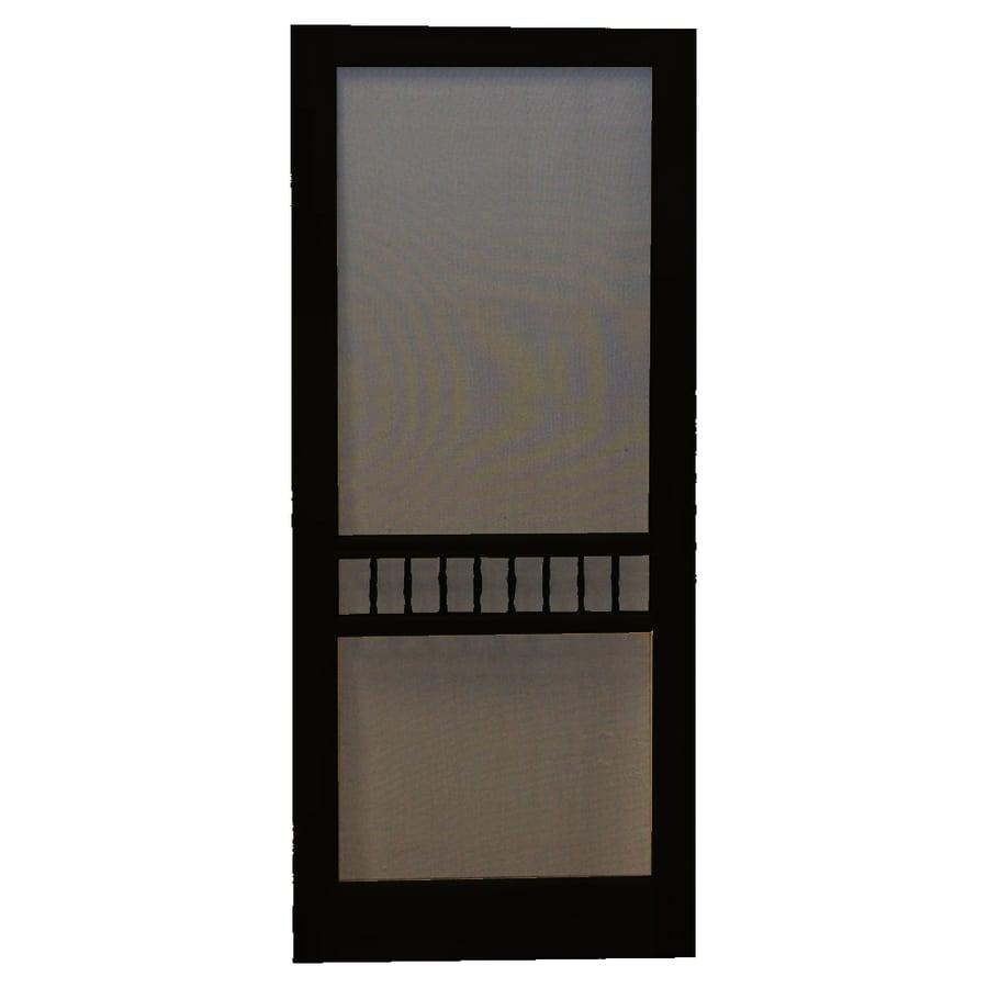 shop screen tight arbor black wood screen door common 30 in x 80 in actual 30 in x 80 in at. Black Bedroom Furniture Sets. Home Design Ideas
