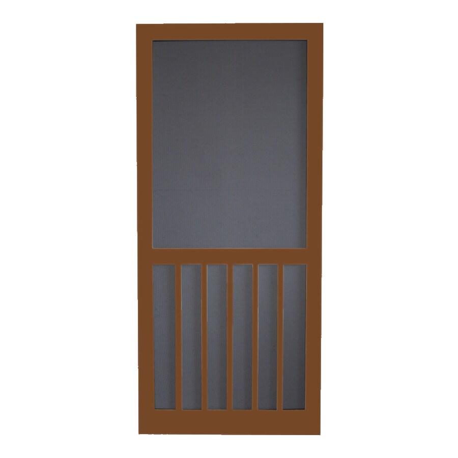 Screen Tight Mark Twain House Brown Wood Screen Door (Common: 32-in x 80-in; Actual: 32-in x 80-in)