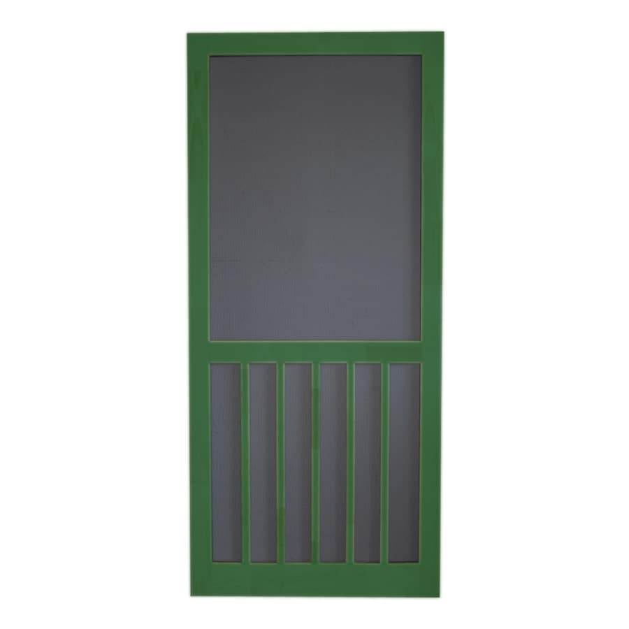 Screen Tight Favorite Green Wood 5-Bar Screen Door (Common: 32-in x 80-in; Actual: 32-in x 80-in)