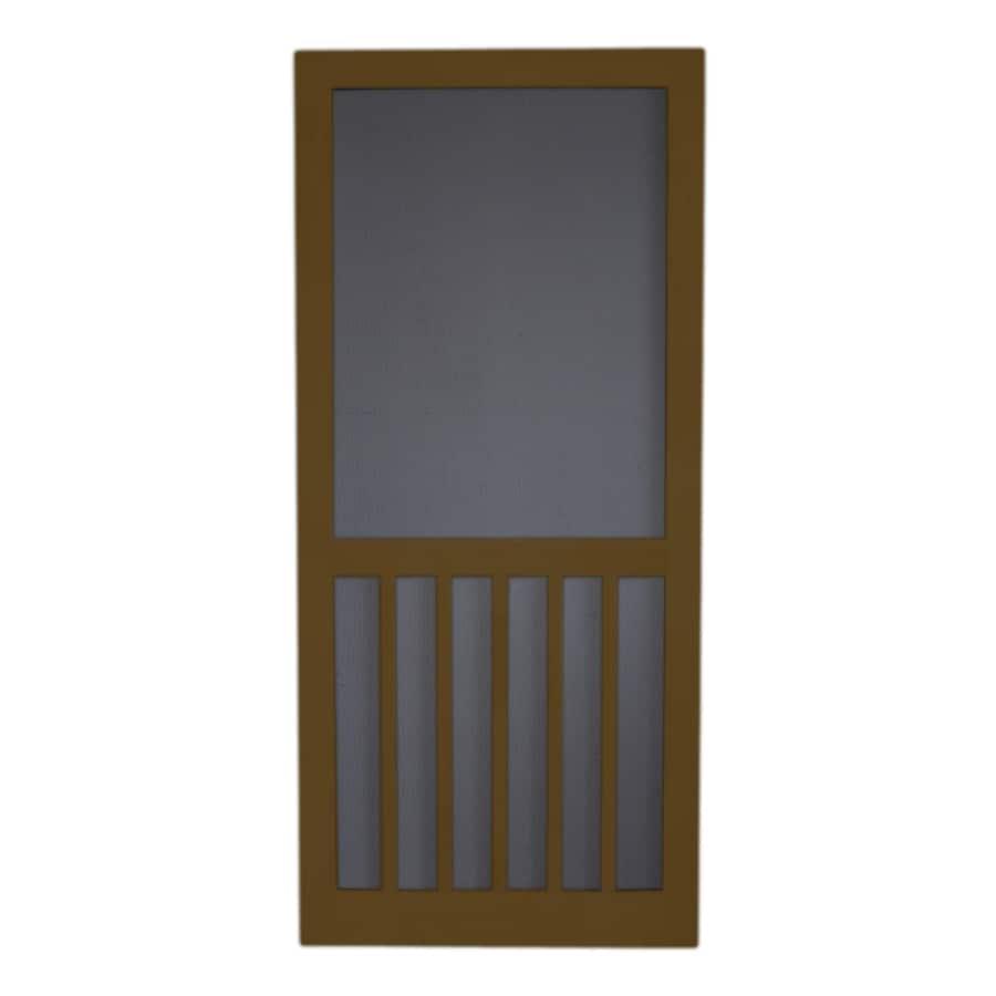 Screen Tight Oxford Brown Wood Screen Door (Common: 32-in x 80-in; Actual: 32-in x 80-in)