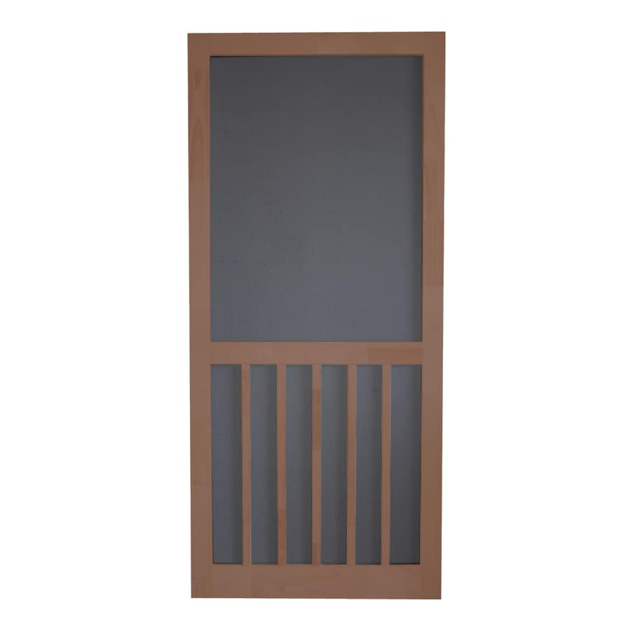 Screen Tight Russet Wood 5-Bar Screen Door (Common: 32-in x 80-in; Actual: 32-in x 80-in)
