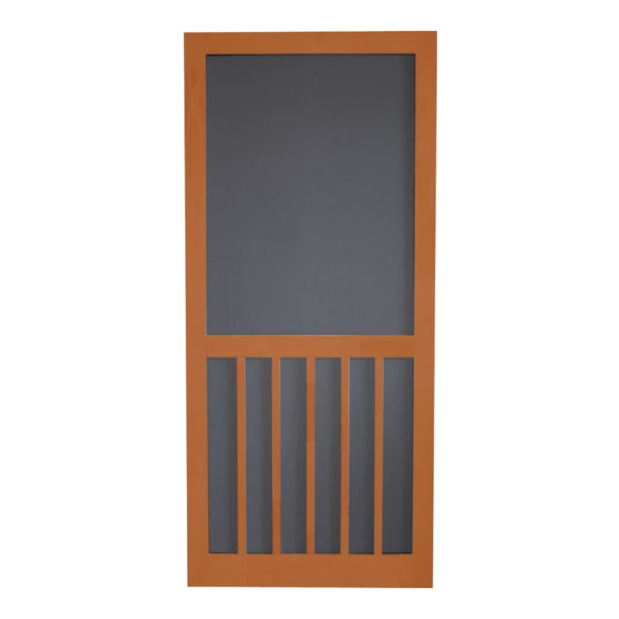 Screen Tight RedWood 5-Bar Screen Door (Common: 32-in x 80-in; Actual: 32-in x 80-in)