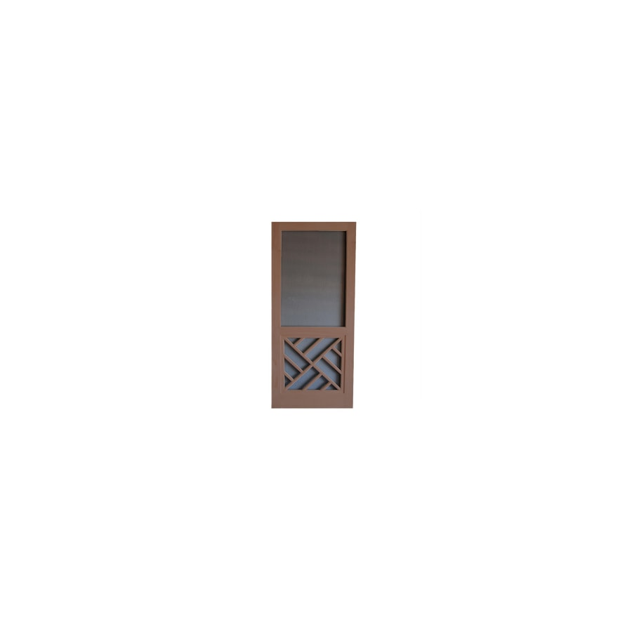 Screen Tight Chippendale Russet Wood Screen Door (Common: 30-in x 80-in; Actual: 30-in x 80-in)
