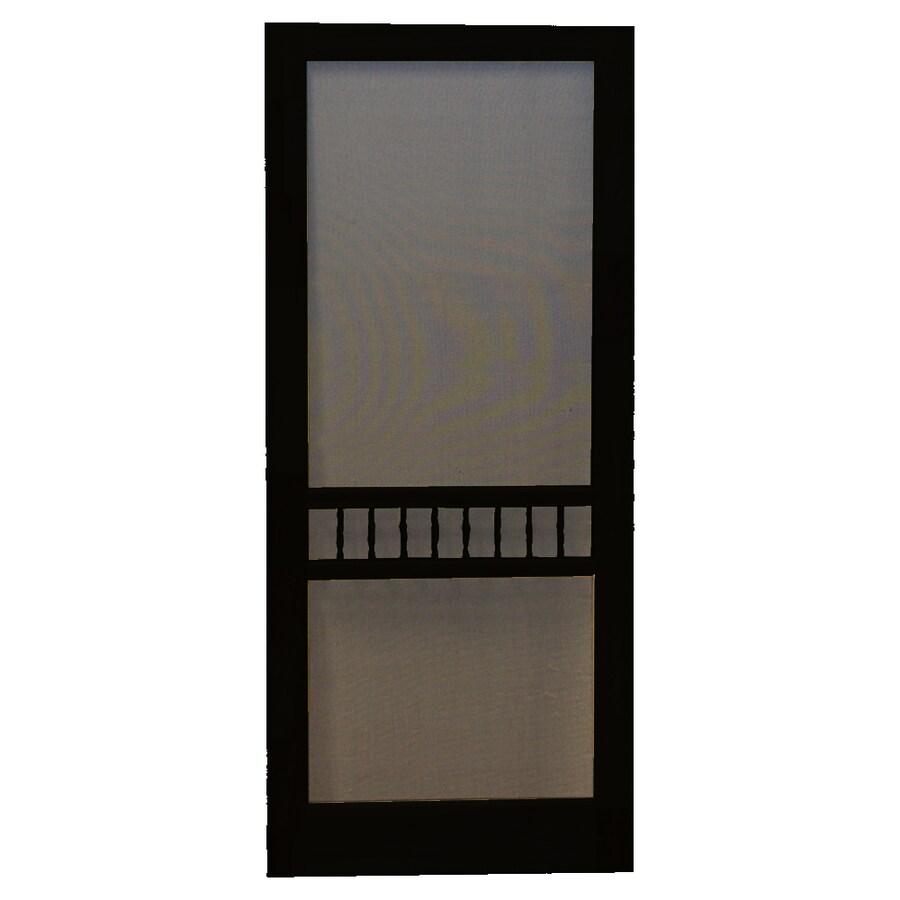 Shop Screen Tight Arbor Black Wood Screen Door Common 32 In X 80