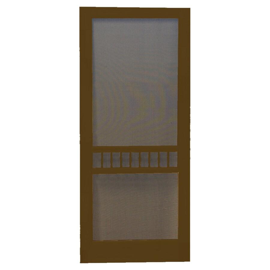 Screen Tight Arbor Oxford Brown Wood Screen Door (Common: 32-in x 80-in; Actual: 32-in x 80-in)