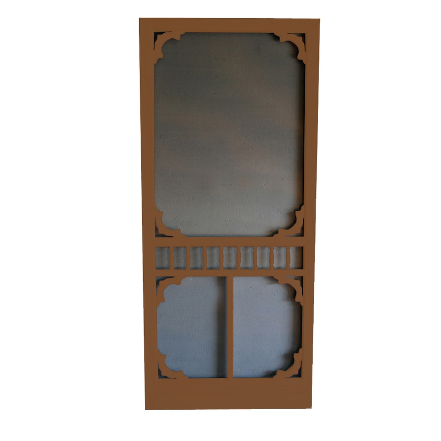Screen Tight Colonial Mark Twain House Brown Wood Screen Door (Common: 32-in x 80-in; Actual: 32-in x 80-in)