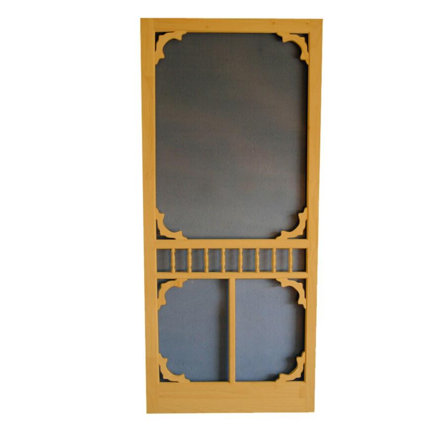 Screen Tight Colonial Cedar Naturaltone Wood Screen Door (Common: 32-in x 80-in; Actual: 32-in x 80-in)
