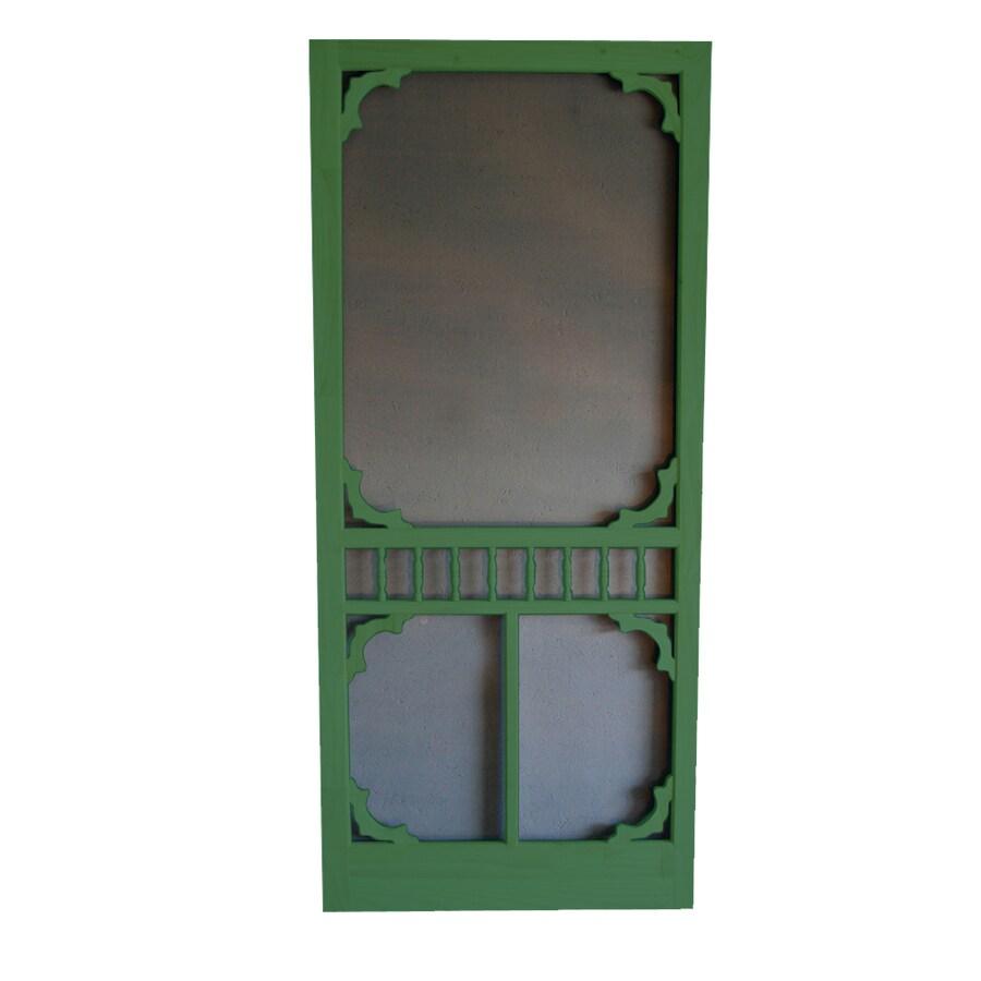 Screen Tight Colonial Favorite Green Wood Screen Door (Common: 32-in x 80-in; Actual: 32-in x 80-in)
