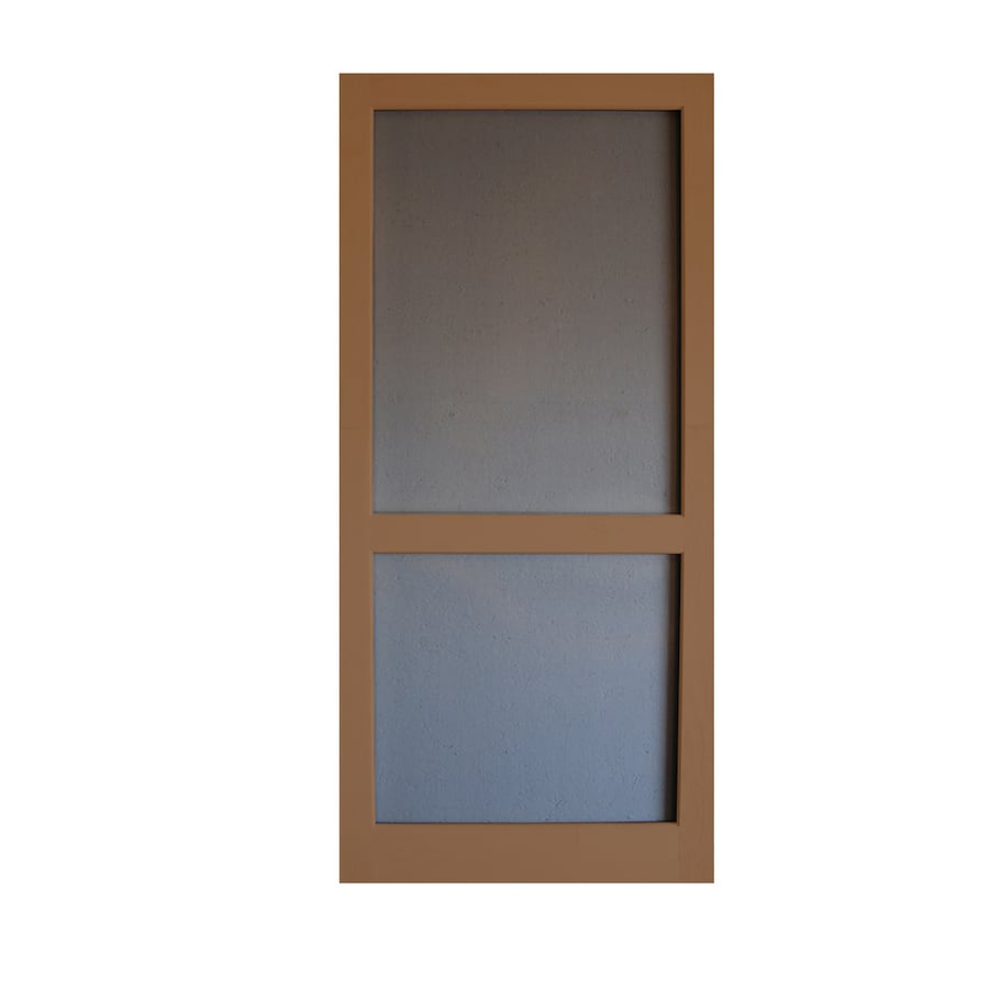 Screen Tight Woodcraft Mark Twain House Brown Wood Screen Door (Common: 32-in x 80-in; Actual: 32-in x 80-in)
