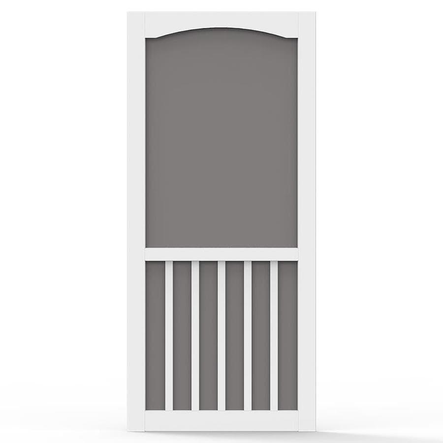 Screen Tight White Vinyl Hinged 5-Bar Screen Door (Common: 32-in x 80-in; Actual: 32-in x 80-in)