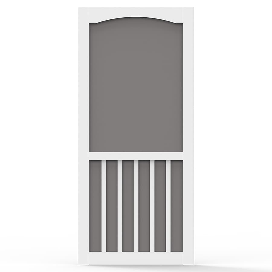 Screen Tight Brookgreen White Vinyl Hinged Screen Door (Common: 36-in x 80-in; Actual: 36-in x 80-in)