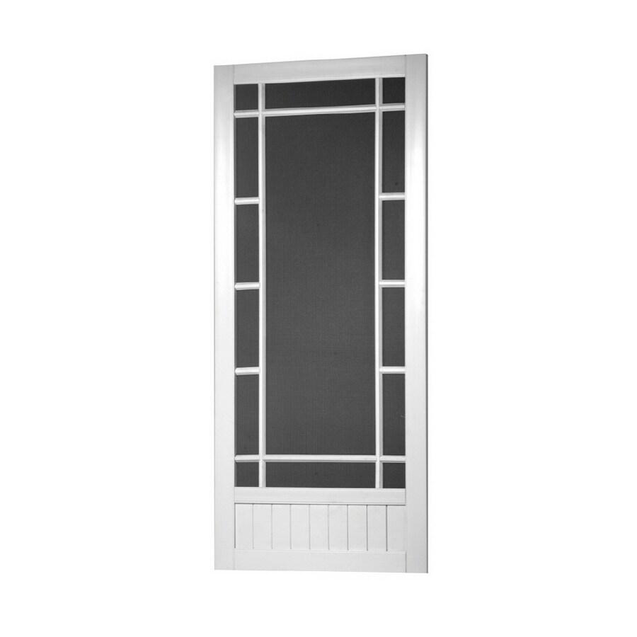 Screen Tight White Vinyl Screen Door (Common: 36-in x 80-in; Actual: 36-in x 80-in)