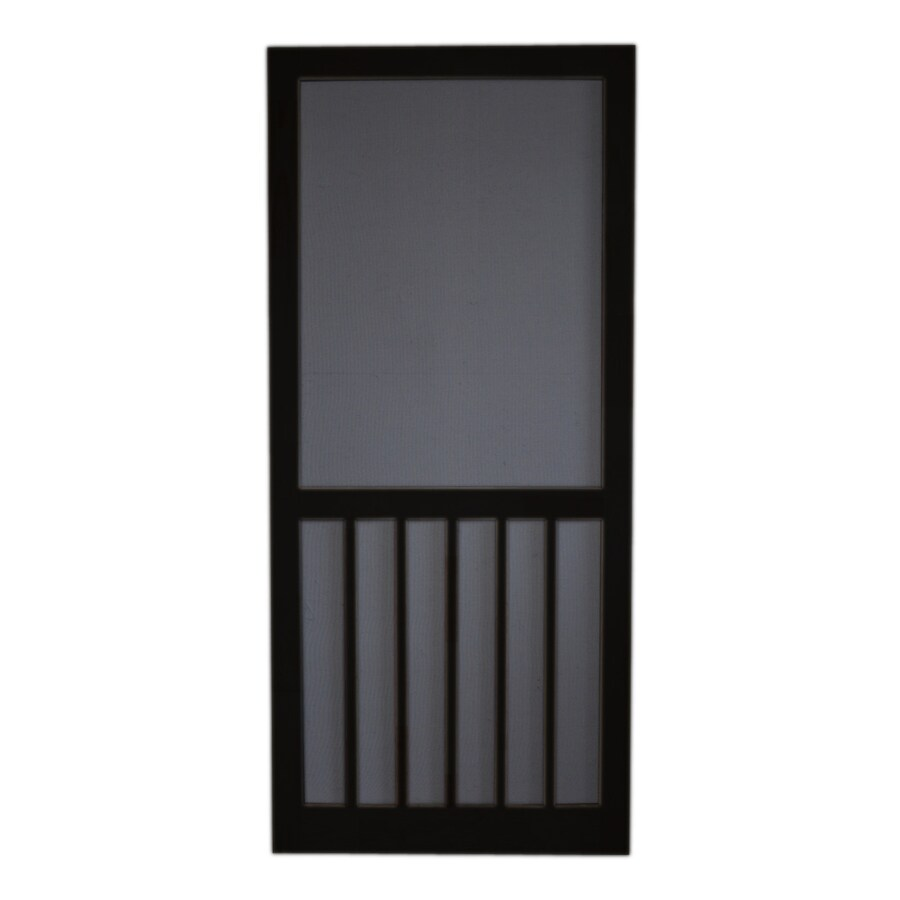 Screen Tight Black Wood 5-Bar Screen Door (Common: 36-in x 80-in; Actual: 36-in x 80-in)
