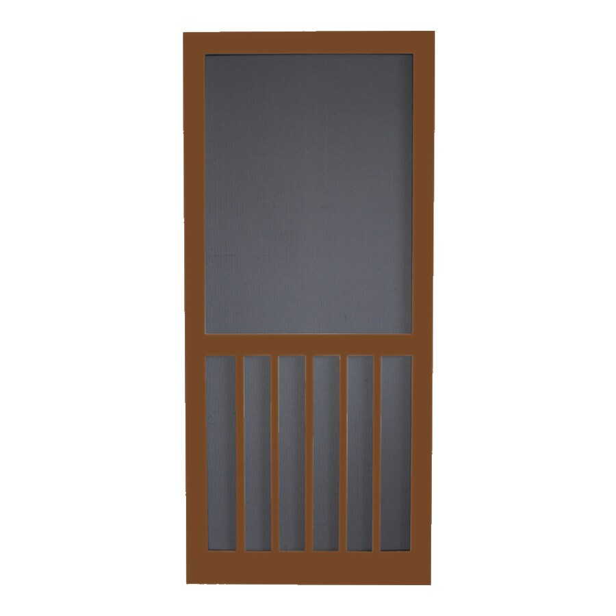 Screen Tight Mark Twain House Brown Wood Screen Door (Common: 36-in x 80-in; Actual: 36-in x 80-in)