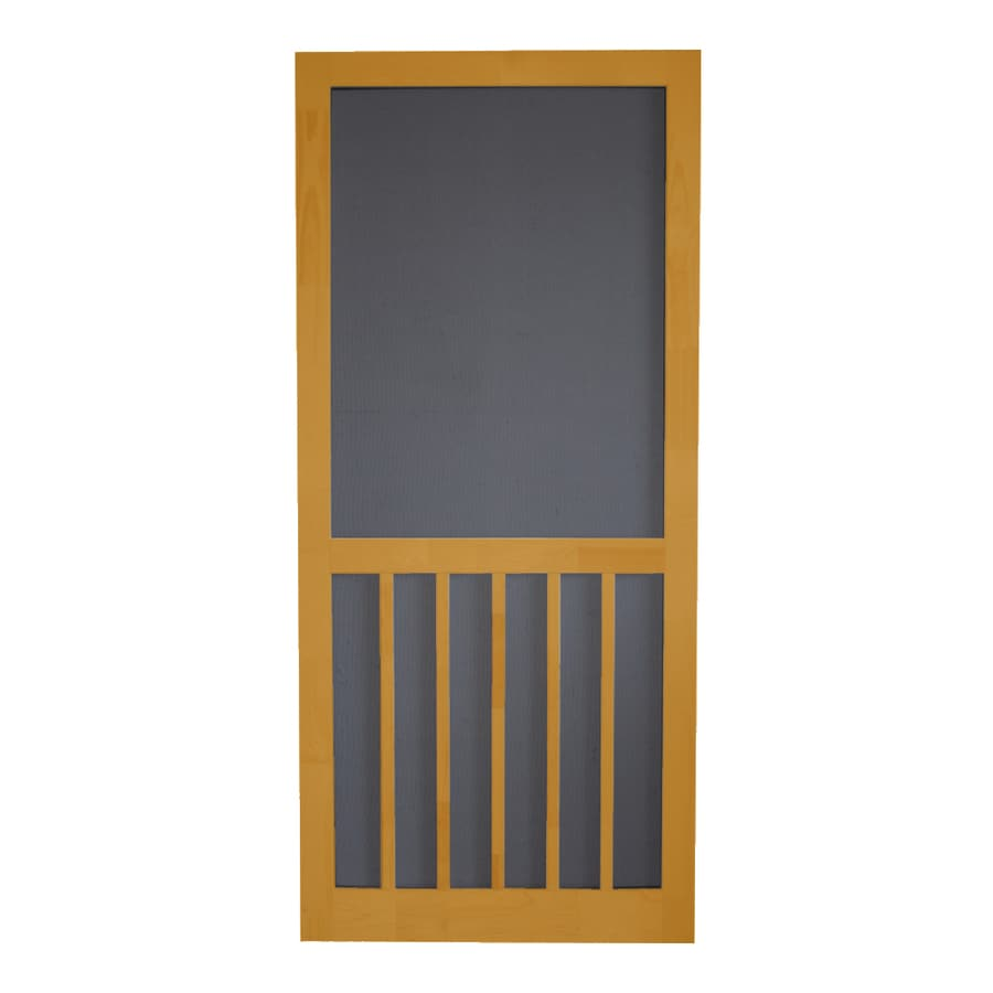 Screen Tight Cedar Naturaltone Wood 5-Bar Screen Door (Common: 36-in x 80-in; Actual: 36-in x 80-in)