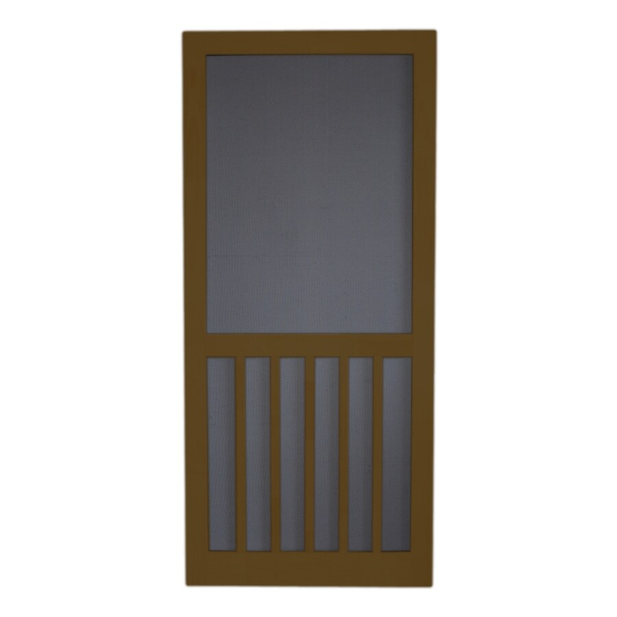 Screen Tight Oxford Brown Wood Screen Door (Common: 36-in x 80-in; Actual: 36-in x 80-in)