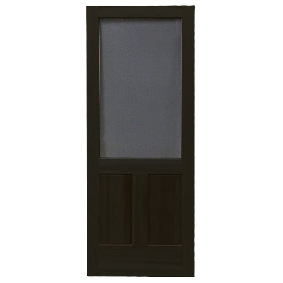 Screen Tight Pioneer Black Wood Screen Door (Common: 30-in x 80-in; Actual: 30-in x 80-in)