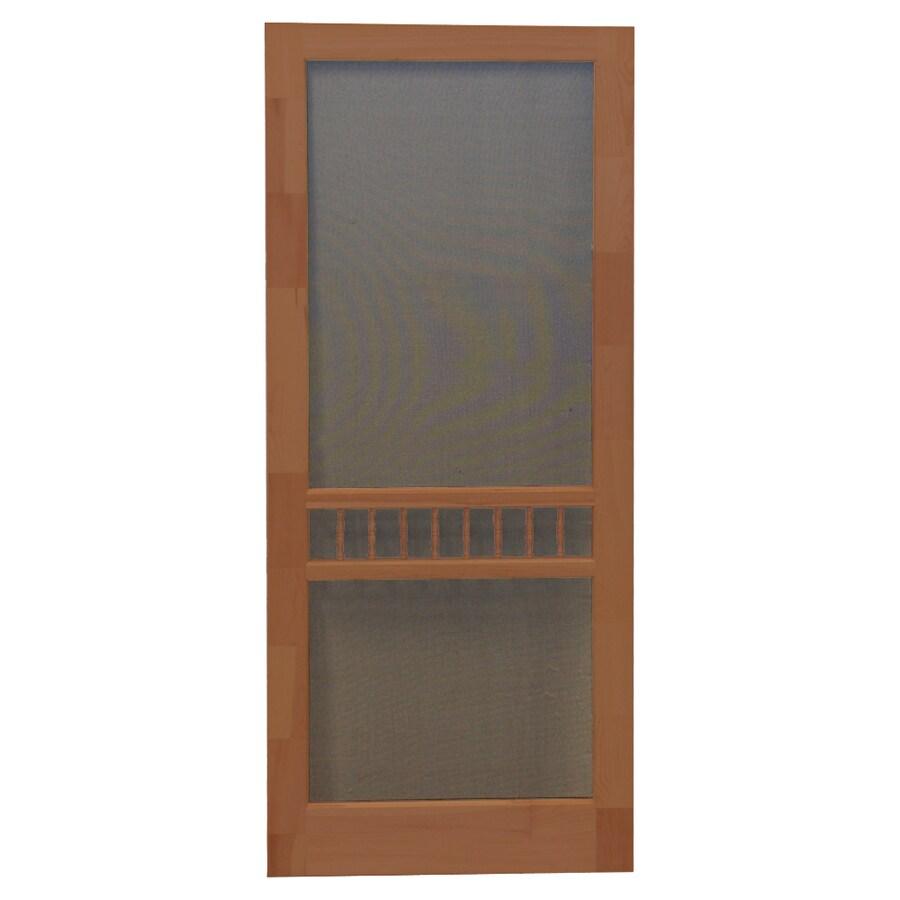 Screen Tight Arbor Russet Wood Screen Door (Common: 36-in x 80-in; Actual: 36-in x 80-in)