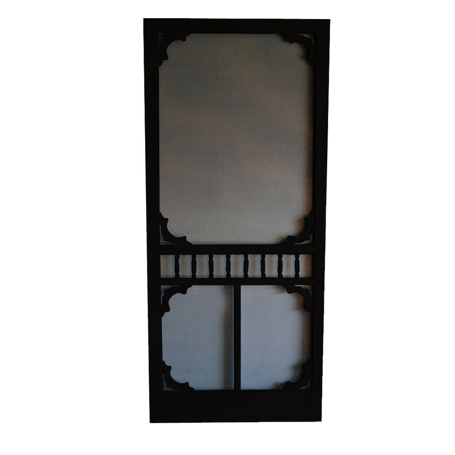 Screen Tight Colonial Black Wood Screen Door (Common: 36 In X 80
