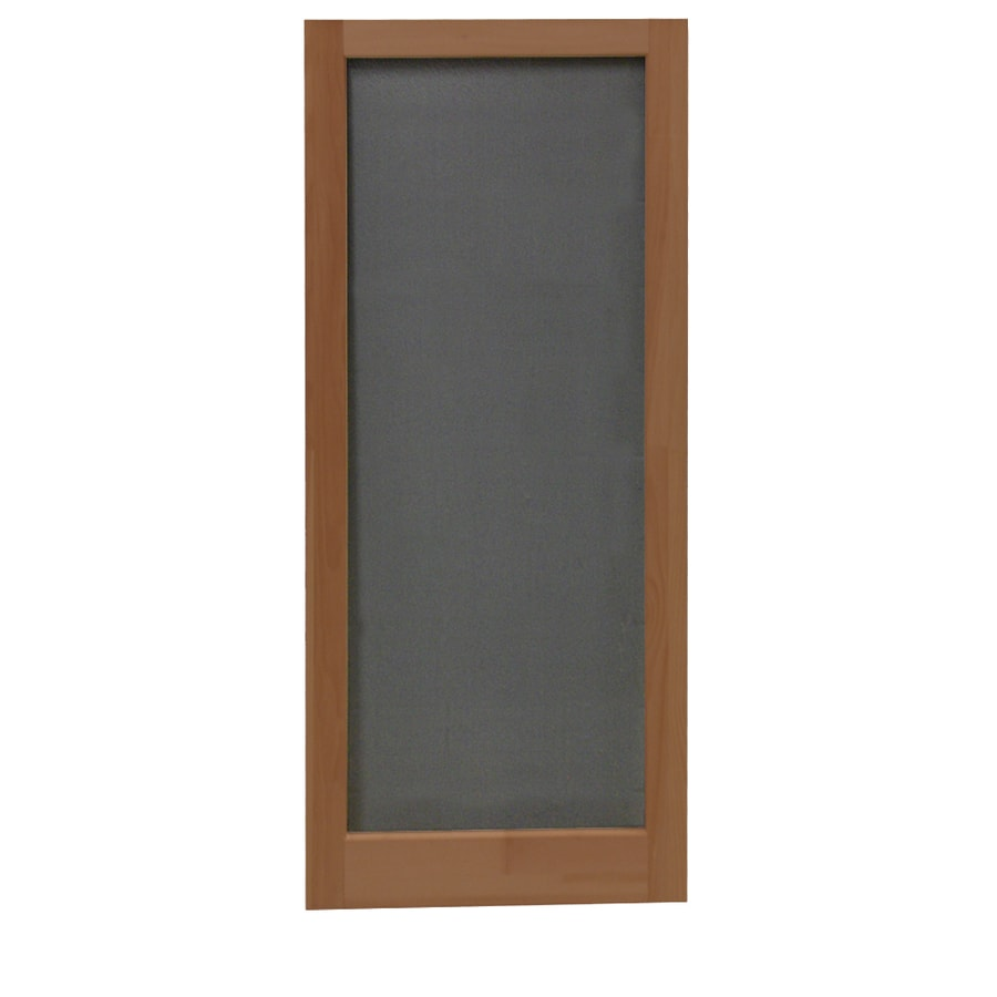 Screen Tight Meadow Russet Wood Screen Door (Common: 32-in x 80-in; Actual: 32-in x 80-in)