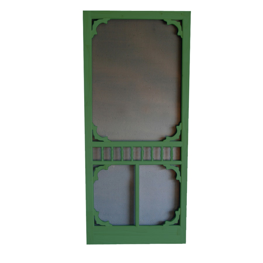 Screen Tight Colonial Favorite Green Wood Screen Door (Common: 36-in x 80-in; Actual: 36-in x 80-in)