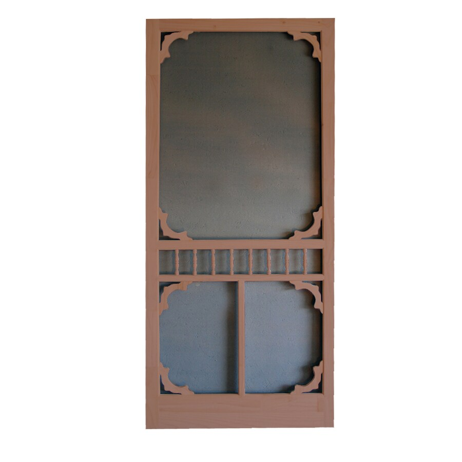 Screen Tight Colonial Russet Wood Screen Door (Common: 36-in x 80-in; Actual: 36-in x 80-in)