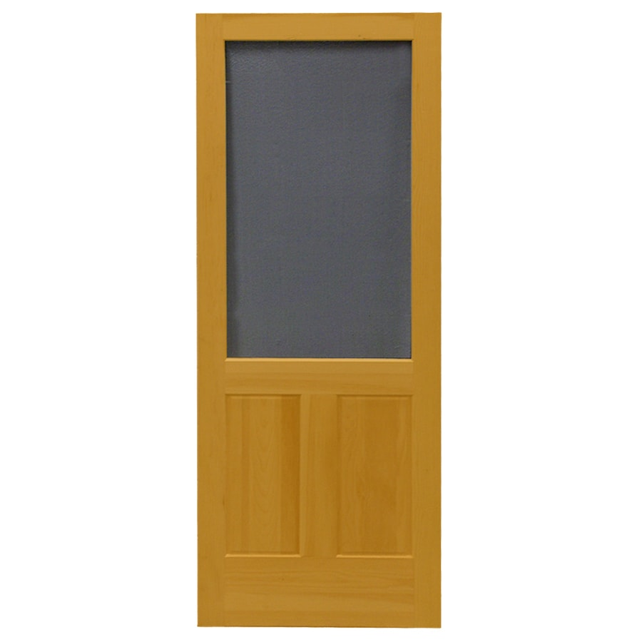 Shop screen tight pioneer cedar naturaltone wood screen for 32x80 storm door