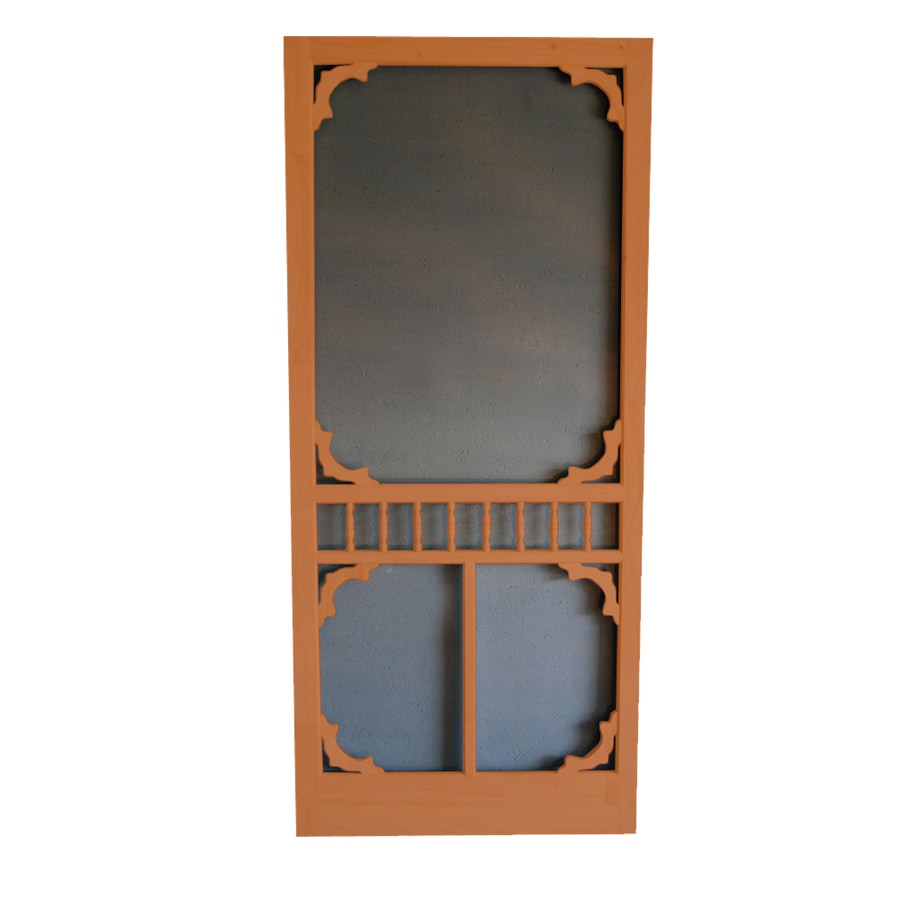 Screen Tight Colonial Redwood Wood Screen Door (Common: 36-in x 80-in; Actual: 36-in x 80-in)