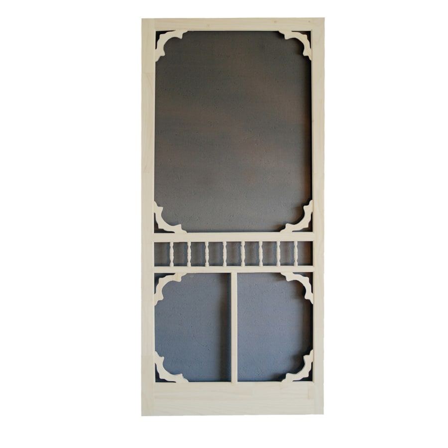 Screen Tight Colonial Lyndhurst Timber Wood Screen Door (Common: 36-in x 80-in; Actual: 36-in x 80-in)