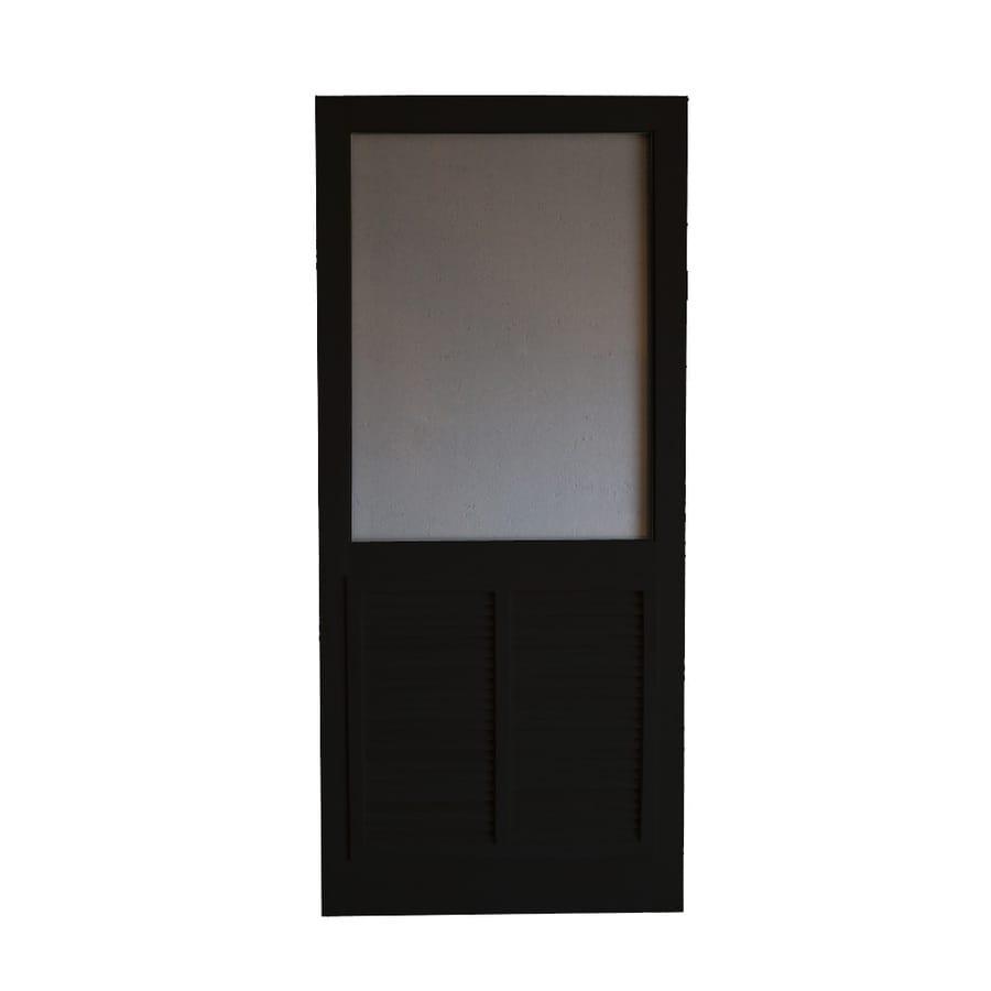 Screen Tight Ponderosa Black Wood Screen Door (Common: 32-in x 80-in; Actual: 32-in x 80-in)
