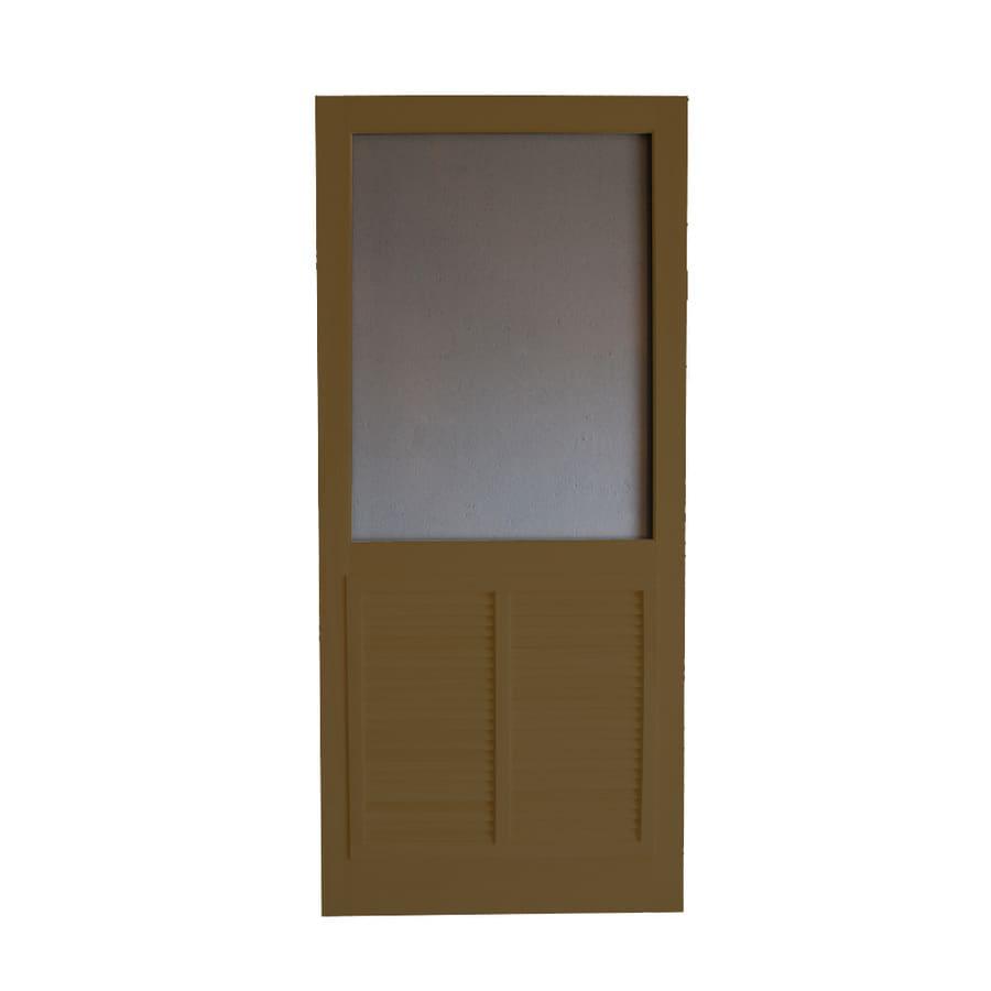 Screen Tight Ponderosa Oxford Brown Wood Screen Door (Common: 32-in x 80-in; Actual: 32-in x 80-in)