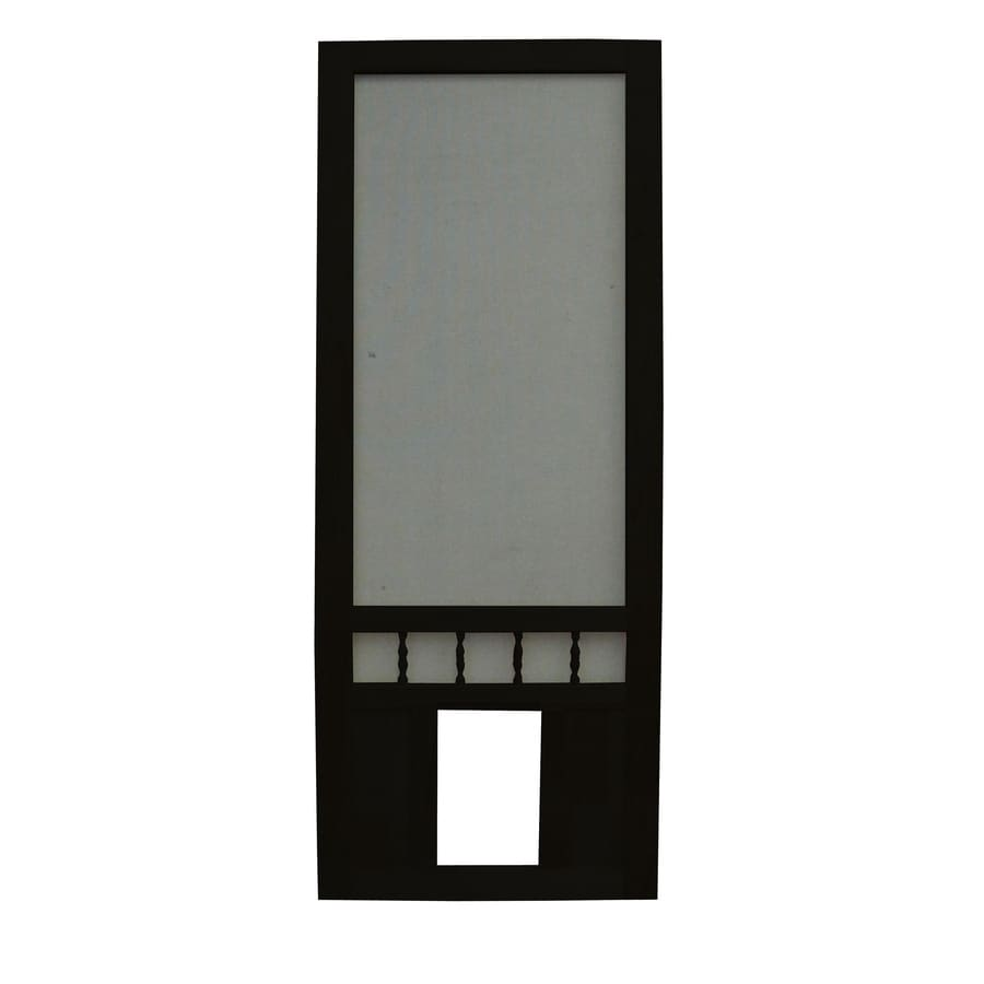 Shop screen tight southport 30 in black wood screen door with pet screen tight southport 30 in black wood screen door with pet door vtopaller Choice Image