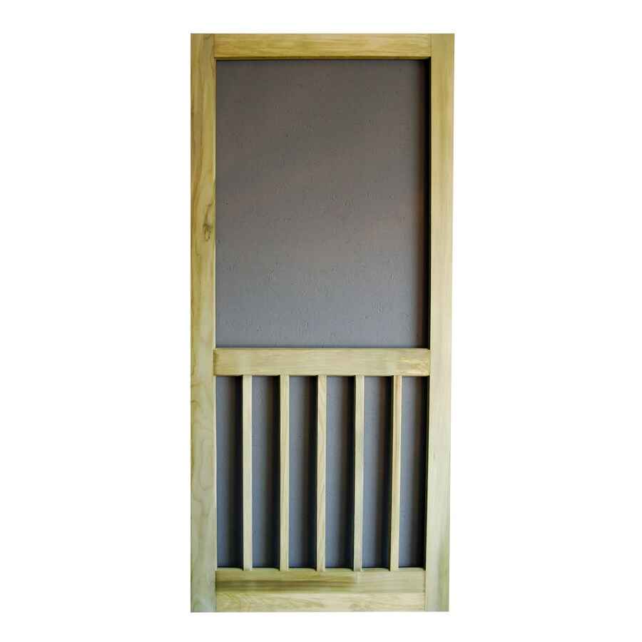 Screen Tight Timberline Natural Wood Screen Door (Common: 30-in x 81-in; Actual: 30-in x 81-in)