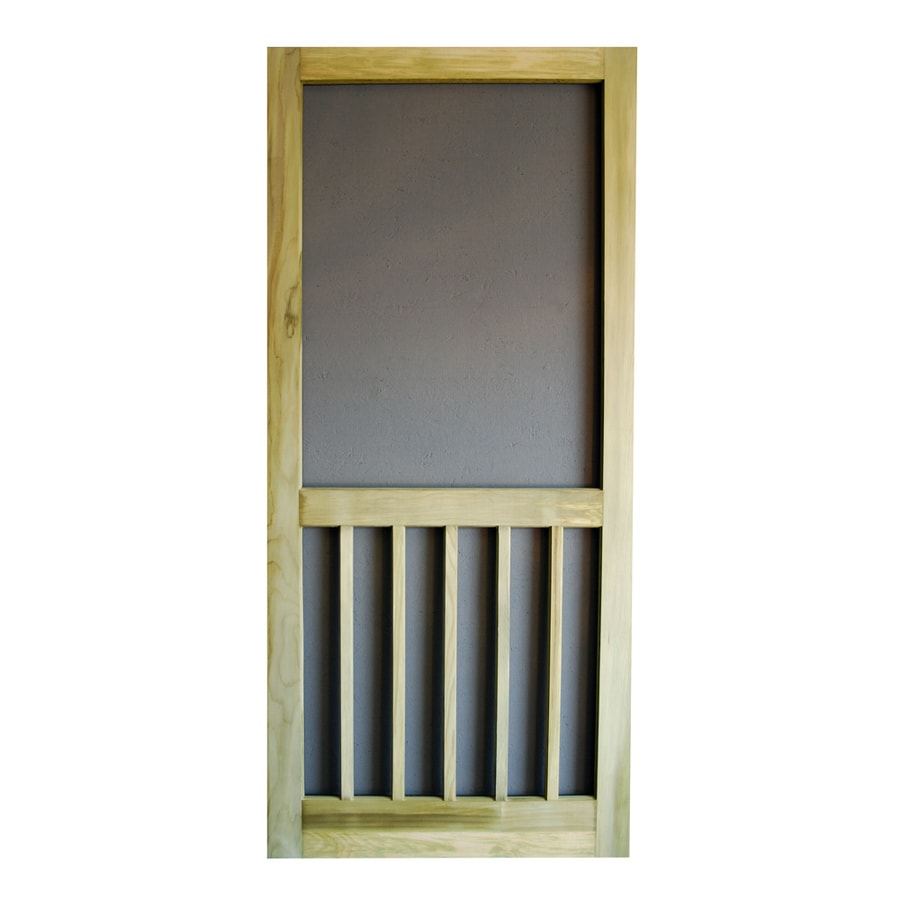 Screen Tight Timberline Natural Wood Hinged 5-bar Screen Door (Common: 32-in x 81-in; Actual: 32-in x 80-in)
