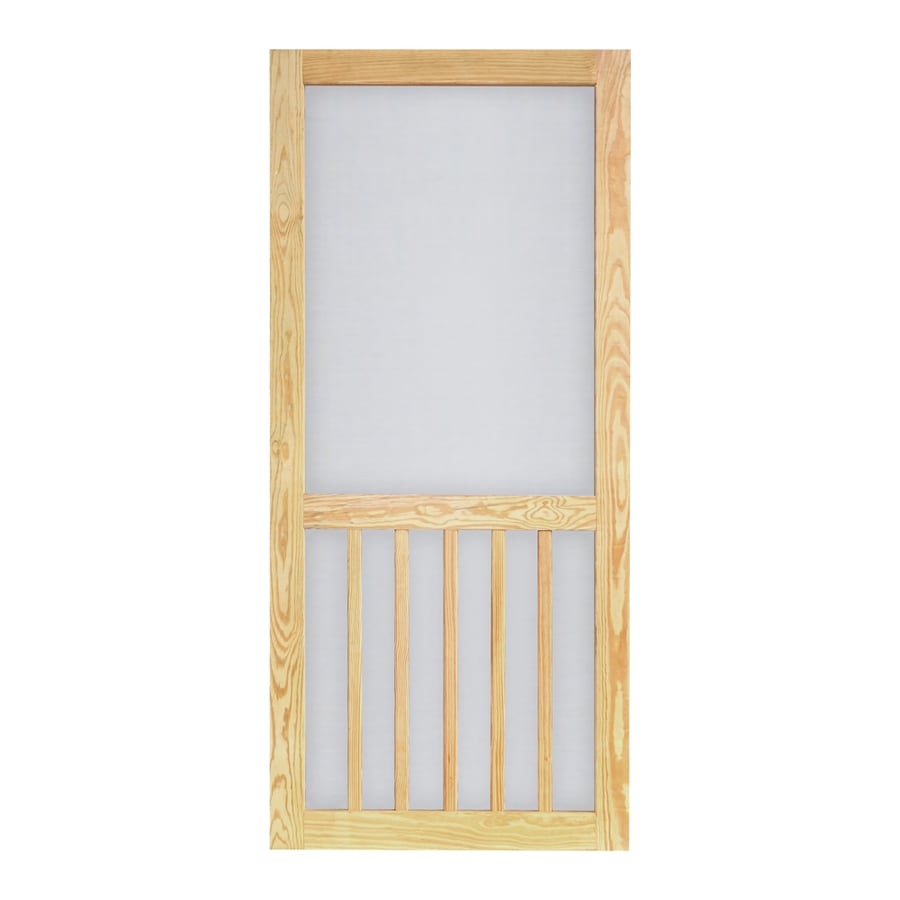 Screen Tight Timberline Natural Wood Screen Door (Common: 36-in x 81-in; Actual: 36-in x 81-in)