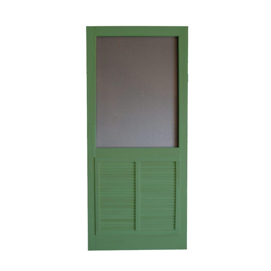 Screen Tight Ponderosa Favorite Green Wood Screen Door (Common: 36-in x 80-in; Actual: 36-in x 80-in)