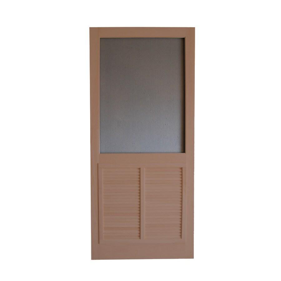 Screen Tight Ponderosa Russet Wood Screen Door (Common: 36-in x 80-in; Actual: 36-in x 80-in)