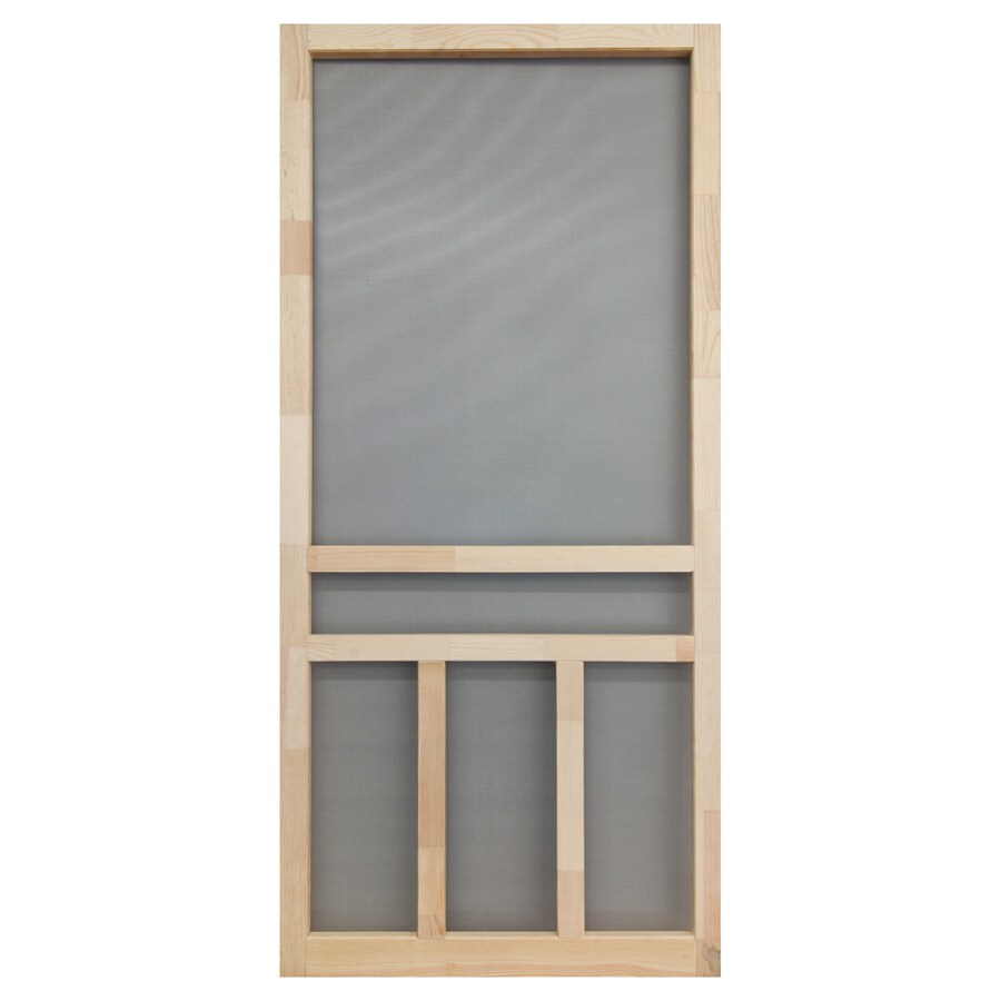 Screen Tight Finger Joint Wood Hinged Cross Bar Screen Door (Common: 32-in x 80-in; Actual: 32-in x 80-in)