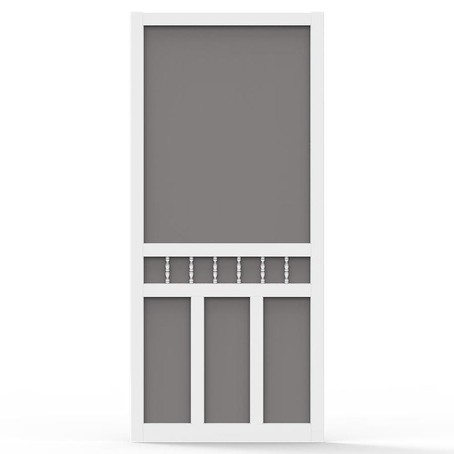 Screen Tight Waccamaw White Vinyl Hinged Double T-bar Screen Door (Common: 32-in x 80-in; Actual: 32-in x 80-in)