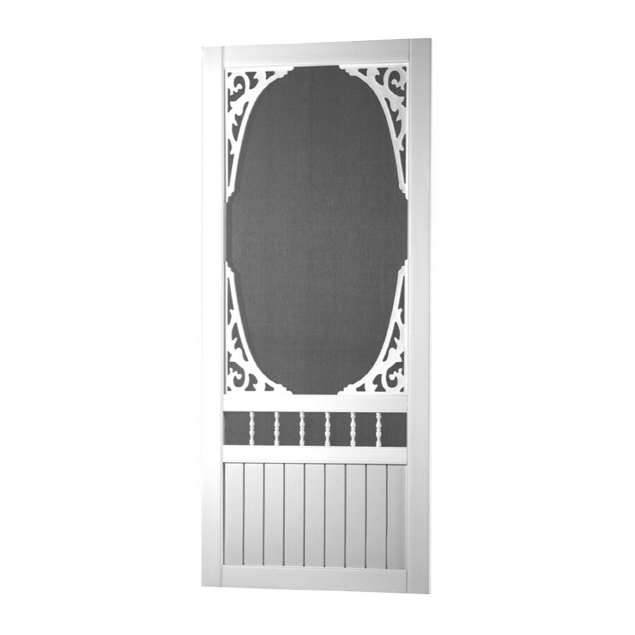 Screen Tight Springview White Vinyl Hinged Screen Door (Common: 30-in x 80-in; Actual: 30-in x 80-in)