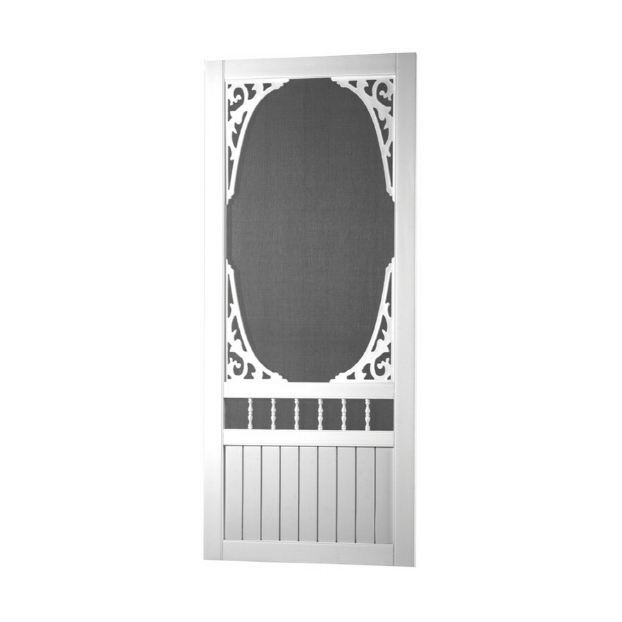 Screen Tight White Vinyl Screen Door (Common: 36-in x 80-in; Actual: 36-in x 80-in)
