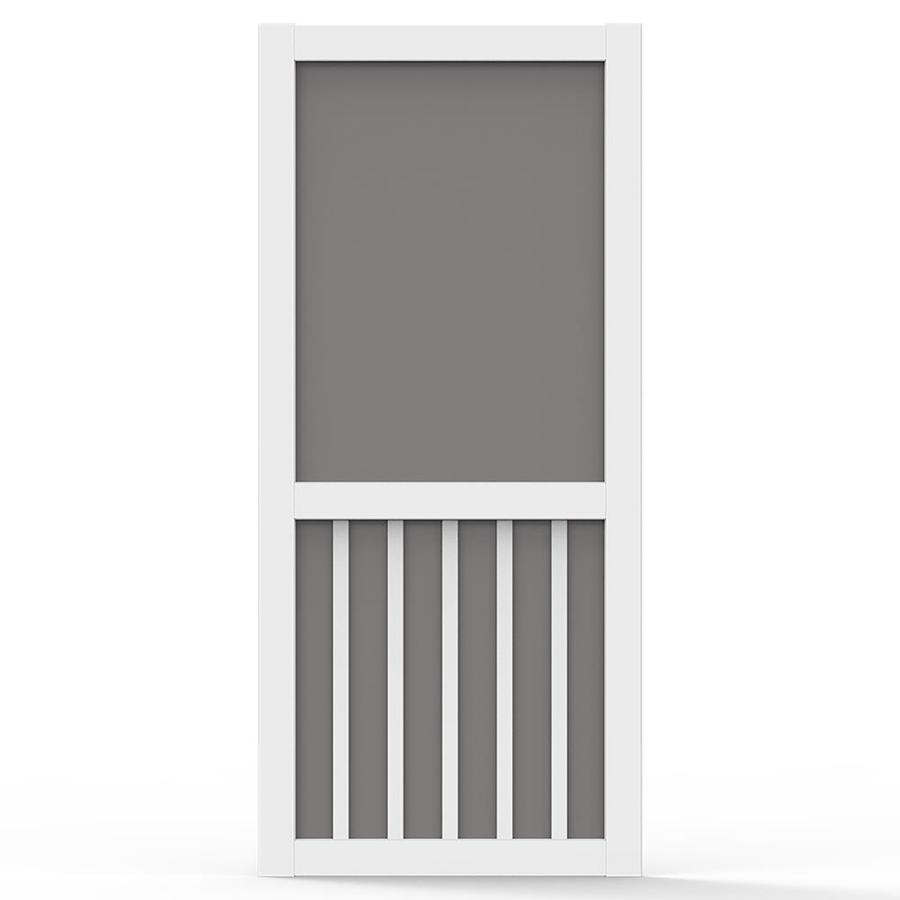 Beau Screen Tight 5 Bar White Vinyl Hinged Screen Door (Common: 36 In X