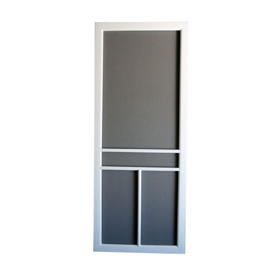 "Screen Tight 36"" White T-Bar Vinyl Screen Door"