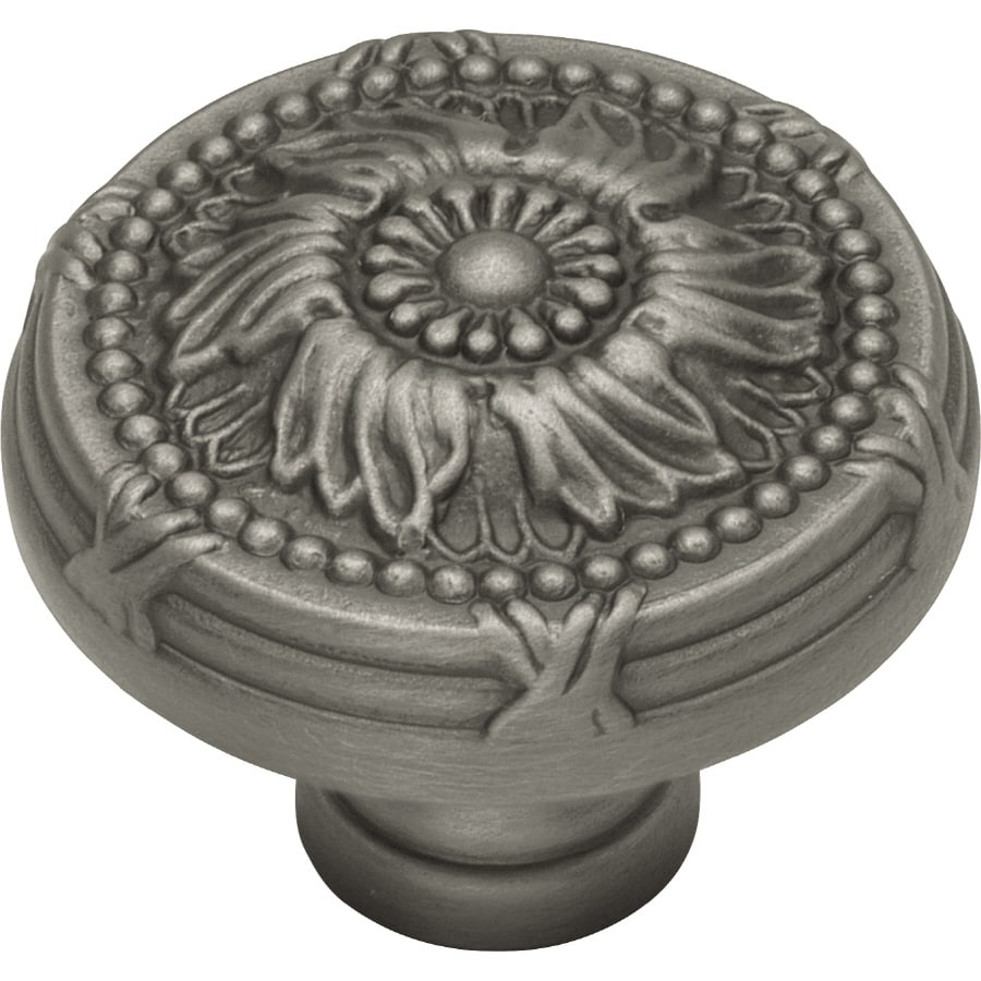 Hickory Hardware 1-1/2-in Antique Pewter Ribbon and Reed Round Cabinet Knob