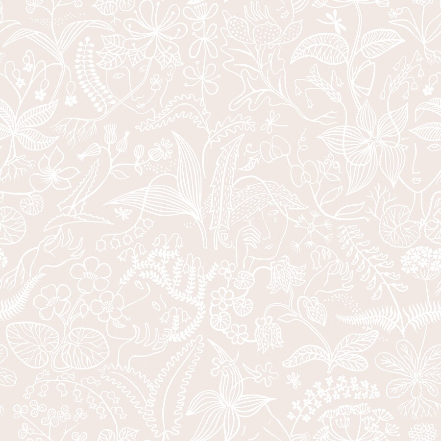 Brewster Wallcovering Wall Vision Blush Non-Woven Floral Wallpaper